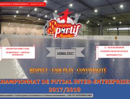 Championnat de Futsal Inter-Entreprises 2017/2018