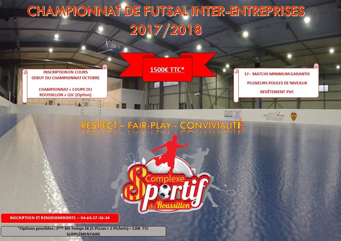 Championnat Futsal inter-entreprises dans le 66
