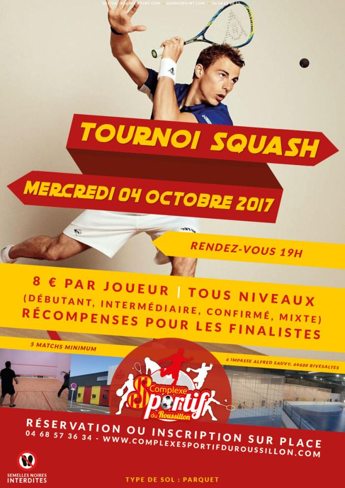 Tournoi de Squash au CSR