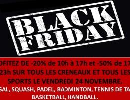 Black Friday au Complexe Sportif du Roussillon