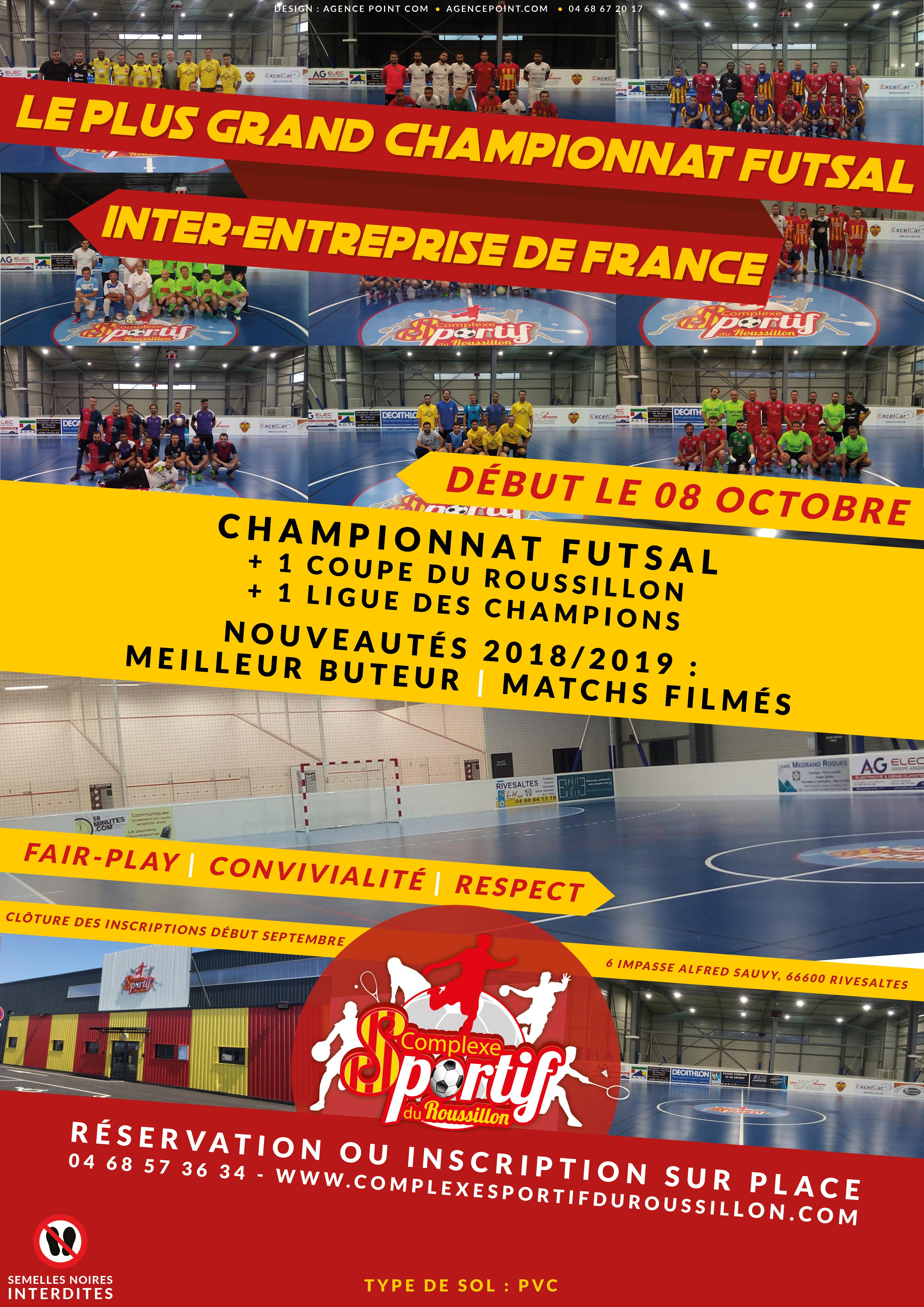 Championnat de futsal inter-entreprise en Occitanie