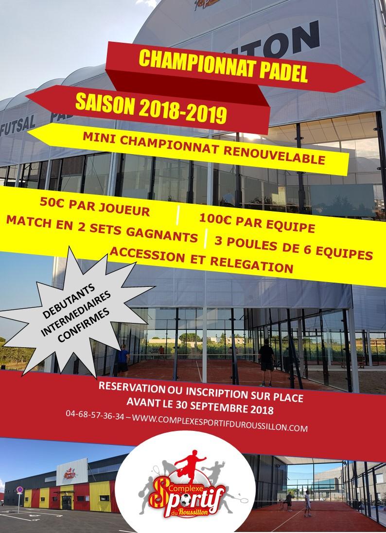 Championnat de Padel en Occitanie