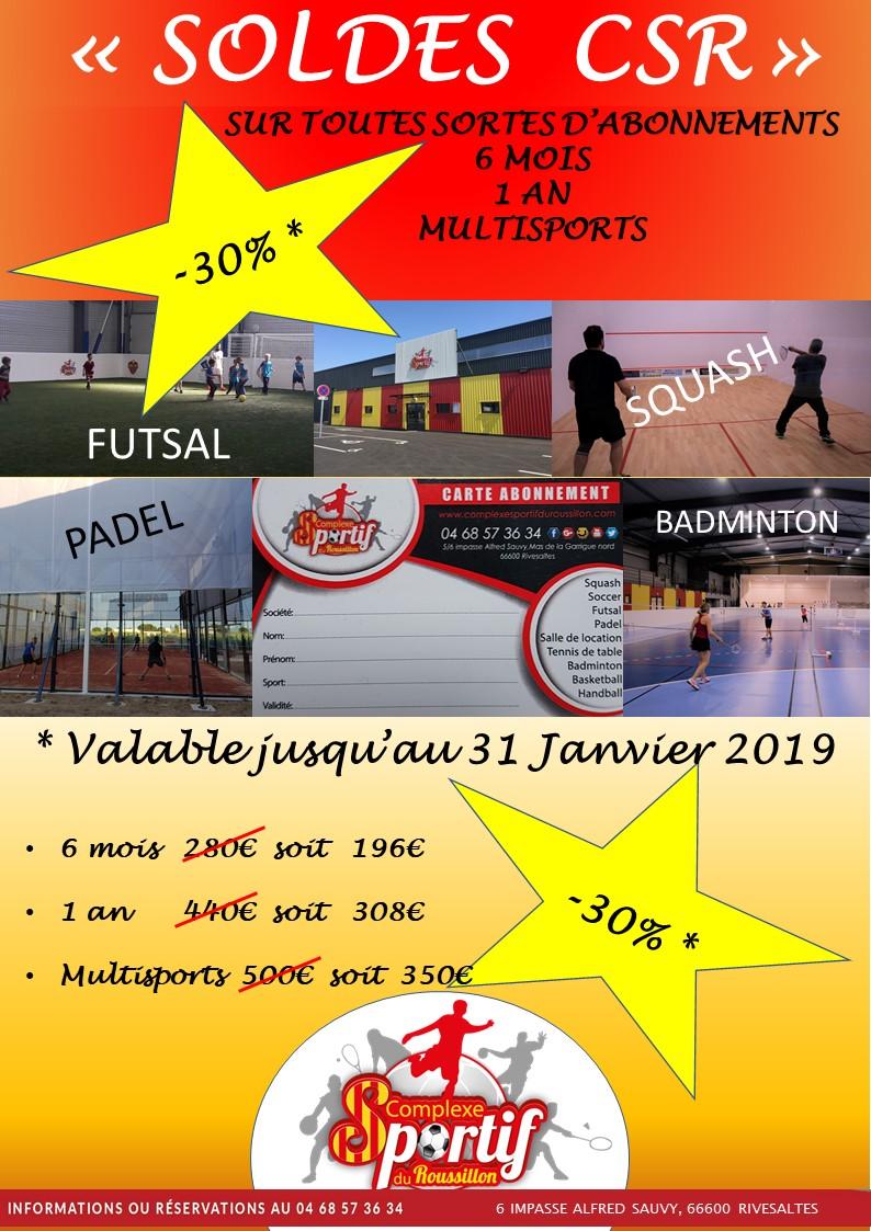 Soldes multisports hiver 2019 dans le 66